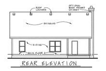Cottage Exterior - Rear Elevation Plan #20-1205