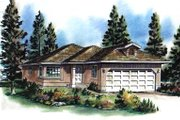 Traditional Style House Plan - 3 Beds 1 Baths 1084 Sq/Ft Plan #18-166 Exterior - Front Elevation