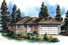 Traditional Exterior - Front Elevation Plan #18-166