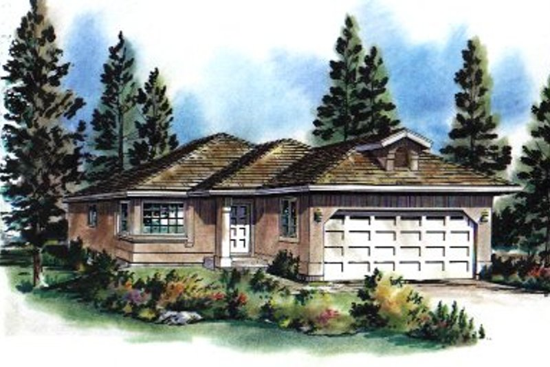 House Blueprint - Traditional Exterior - Front Elevation Plan #18-166