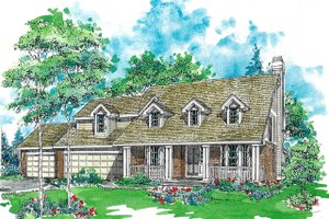 Traditional Exterior - Front Elevation Plan #970-11