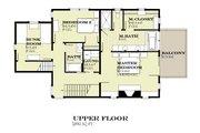 Farmhouse Style House Plan - 3 Beds 2.5 Baths 2170 Sq/Ft Plan #901-140 Floor Plan - Upper Floor