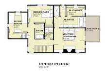 Farmhouse Floor Plan - Upper Floor Plan Plan #901-140