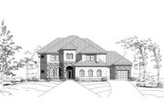 European Style House Plan - 5 Beds 3 Baths 4312 Sq/Ft Plan #411-207 Exterior - Front Elevation