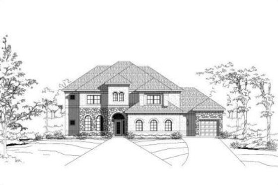 European Exterior - Front Elevation Plan #411-207