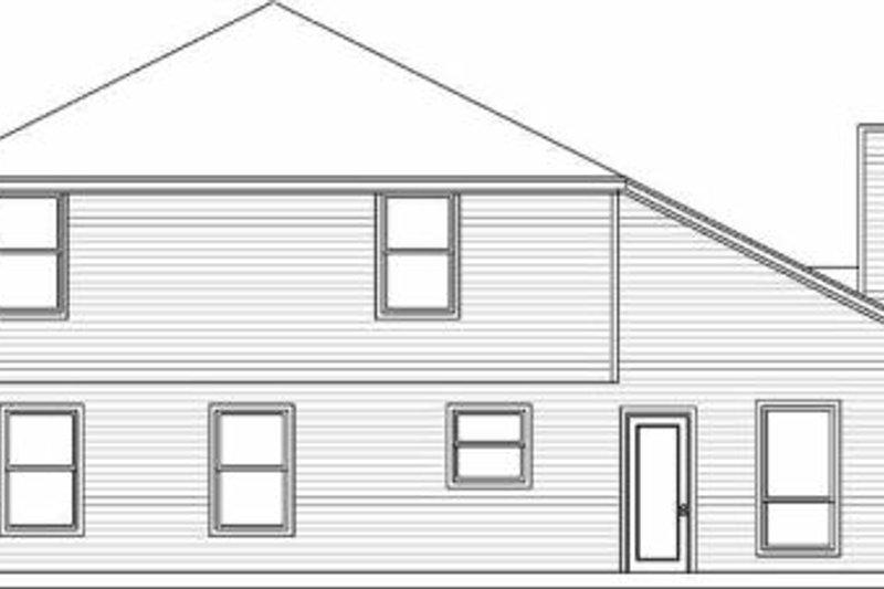 Traditional Exterior - Rear Elevation Plan #84-126 - Houseplans.com