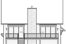 Home Plan - Traditional Exterior - Rear Elevation Plan #23-814