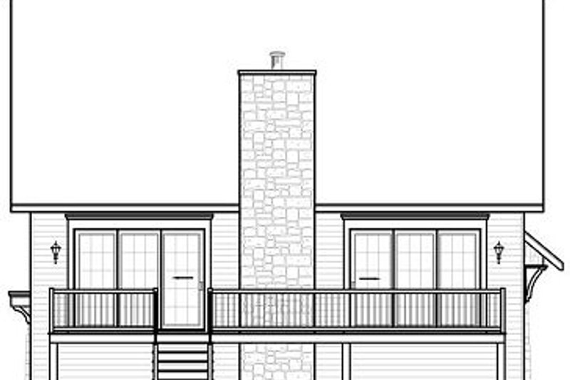 Traditional Exterior - Rear Elevation Plan #23-814 - Houseplans.com