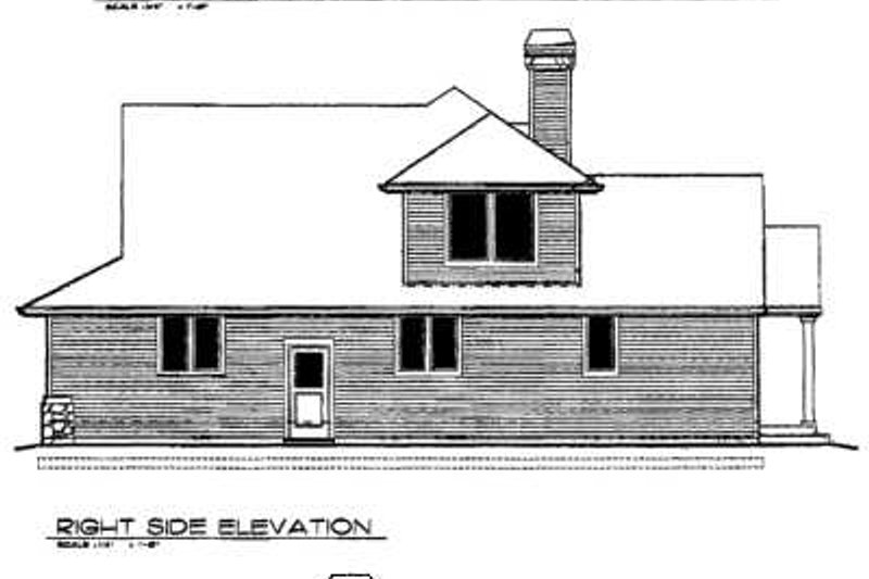 Craftsman Exterior - Rear Elevation Plan #48-163 - Houseplans.com