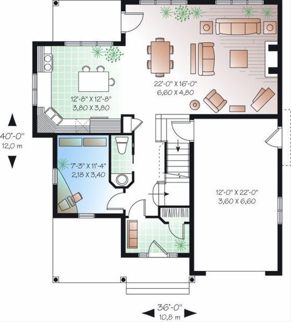 House Plan Design - Farmhouse Floor Plan - Main Floor Plan #23-719