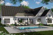 Farmhouse Style House Plan - 3 Beds 2.5 Baths 2332 Sq/Ft Plan #51-1141 Exterior - Rear Elevation