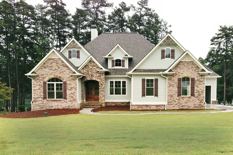 European Exterior - Front Elevation Plan #437-58 - Houseplans.com