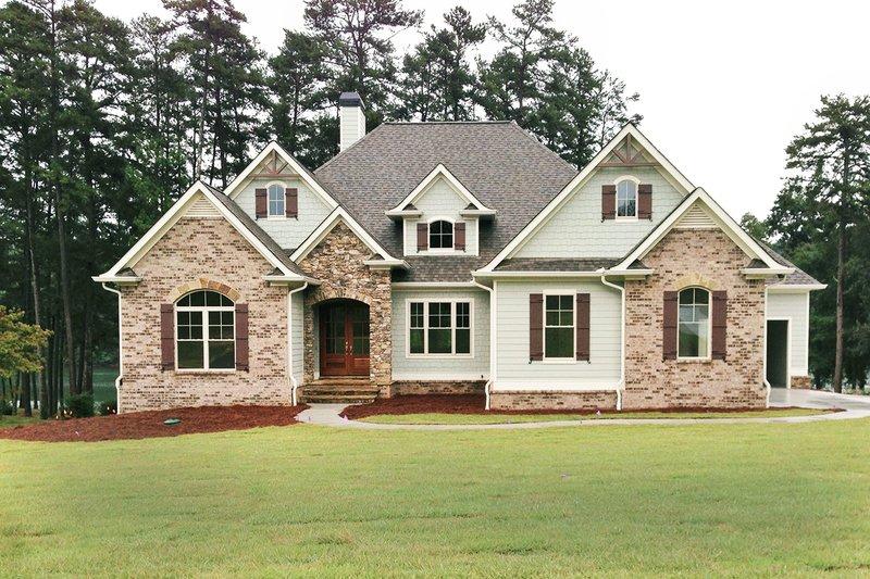 Home Plan - European Exterior - Front Elevation Plan #437-58