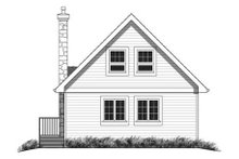 House Blueprint - Contemporary Exterior - Rear Elevation Plan #18-294