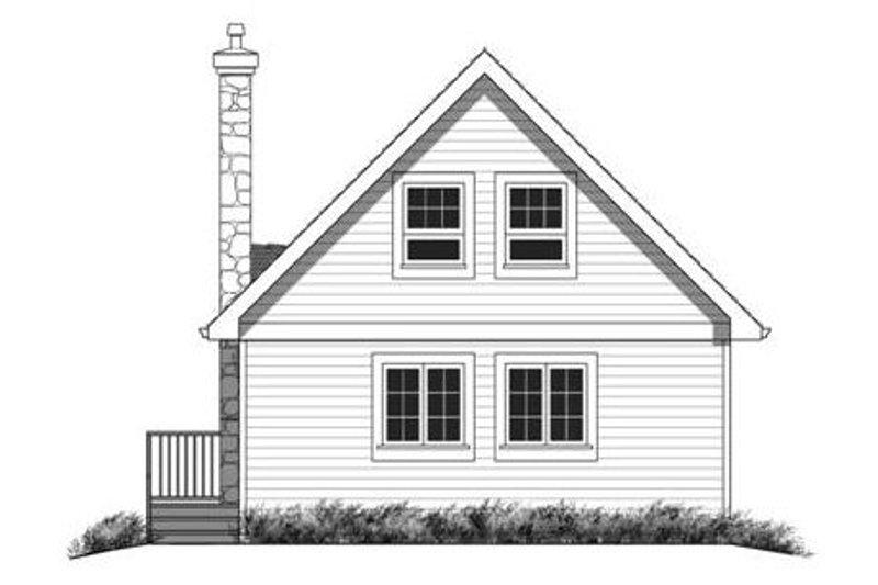 Contemporary Exterior - Rear Elevation Plan #18-294 - Houseplans.com
