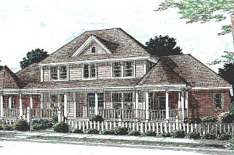 Country Exterior - Front Elevation Plan #20-169 - Houseplans.com