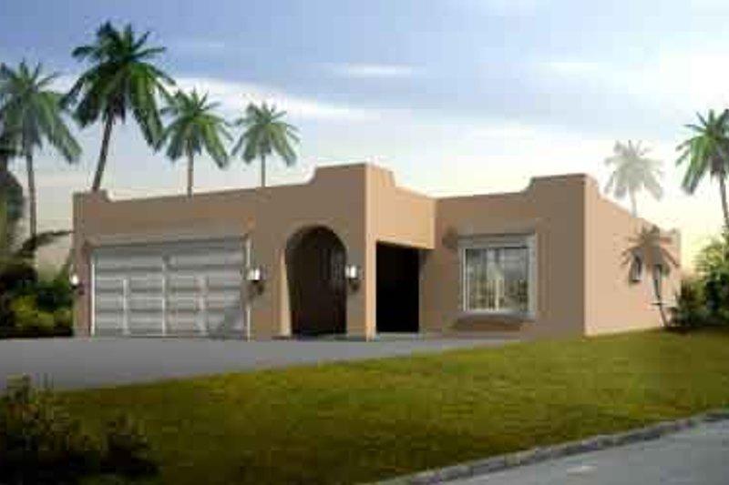 Adobe / Southwestern Style House Plan - 4 Beds 2 Baths 1687 Sq/Ft Plan #1-1329
