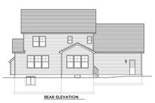 House Design - Traditional Exterior - Rear Elevation Plan #1010-229