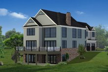 House Plan Design - Craftsman Exterior - Rear Elevation Plan #1057-30