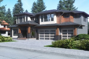 Contemporary Exterior - Front Elevation Plan #1066-63