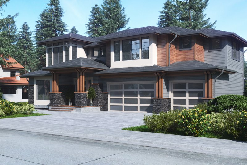 Home Plan - Contemporary Exterior - Front Elevation Plan #1066-63