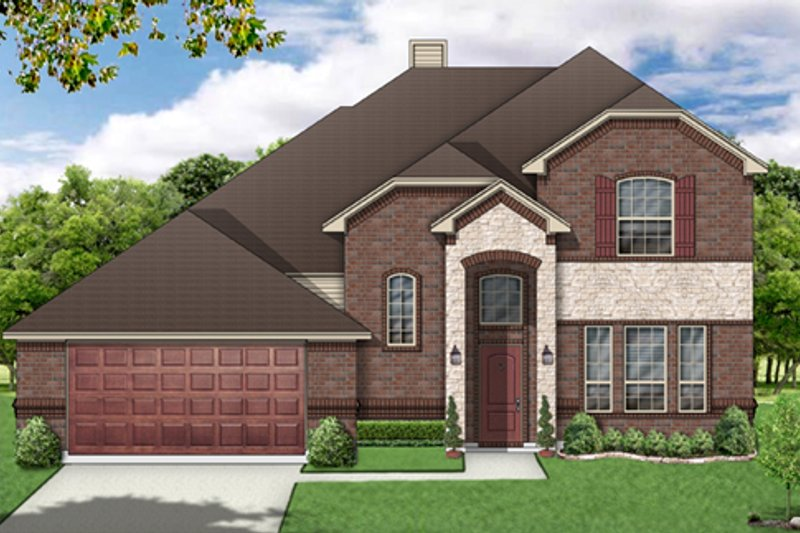 Traditional Exterior - Front Elevation Plan #84-502 - Houseplans.com