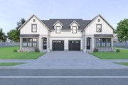 Farmhouse Style House Plan - 3 Beds 2.5 Baths 1535 Sq/Ft Plan #1070-96 Exterior - Front Elevation