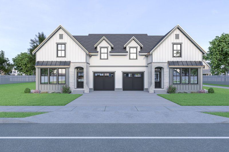 House Plan Design - Farmhouse Exterior - Front Elevation Plan #1070-96