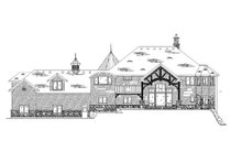 European Exterior - Rear Elevation Plan #5-447