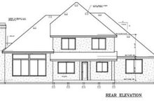 House Design - European Exterior - Rear Elevation Plan #100-228
