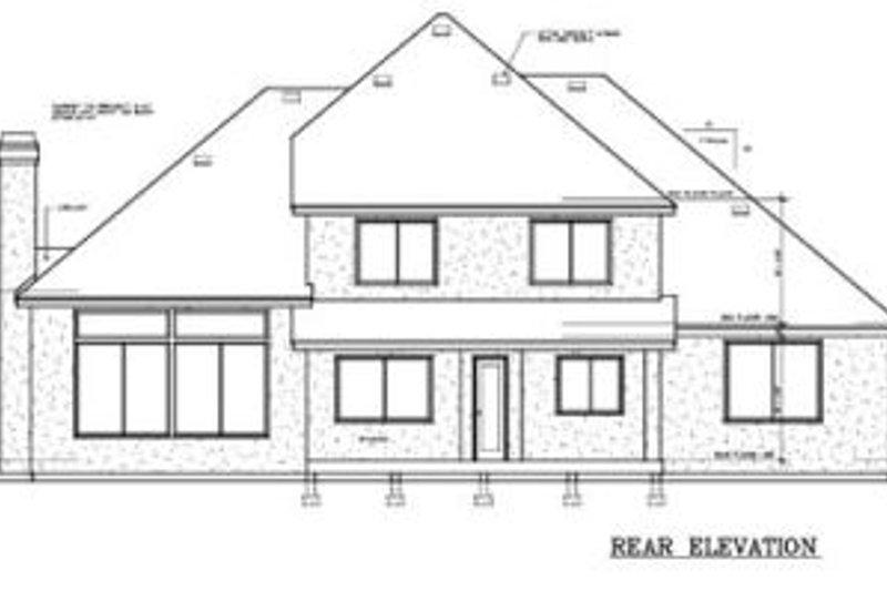 European Exterior - Rear Elevation Plan #100-228 - Houseplans.com
