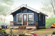 Cottage Style House Plan - 1 Beds 1 Baths 384 Sq/Ft Plan #23-2288 Exterior - Front Elevation