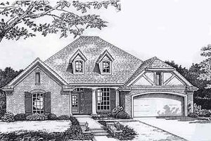 European Exterior - Front Elevation Plan #310-924