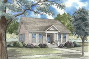 Cottage Style House Plan - 3 Beds 2 Baths 1260 Sq/Ft Plan #17-1052 Exterior - Front Elevation