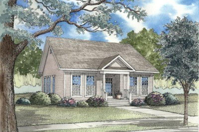Architectural House Design - Cottage Exterior - Front Elevation Plan #17-1052