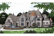 European Style House Plan - 4 Beds 4.5 Baths 6366 Sq/Ft Plan #453-49