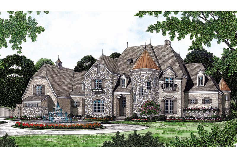 European Exterior - Other Elevation Plan #453-49 - Houseplans.com