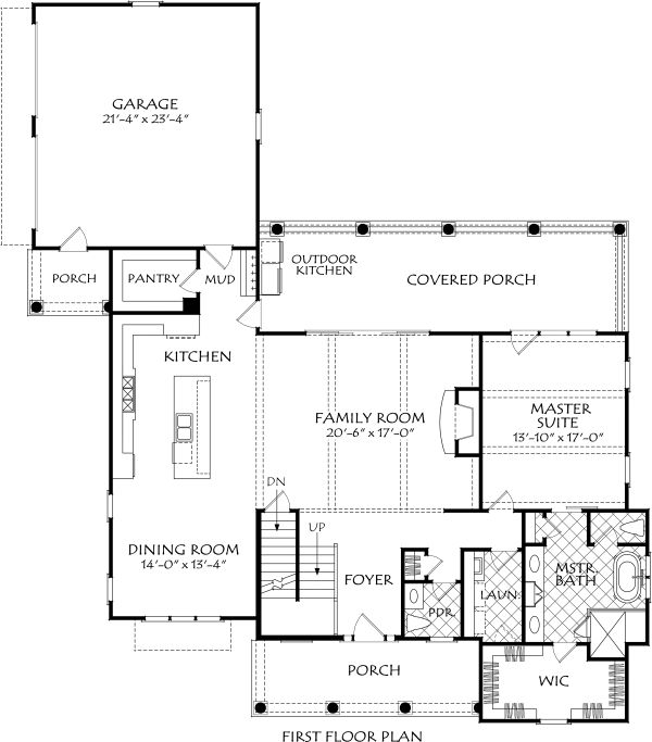 Farmhouse Floor Plan - Main Floor Plan Plan #927-995
