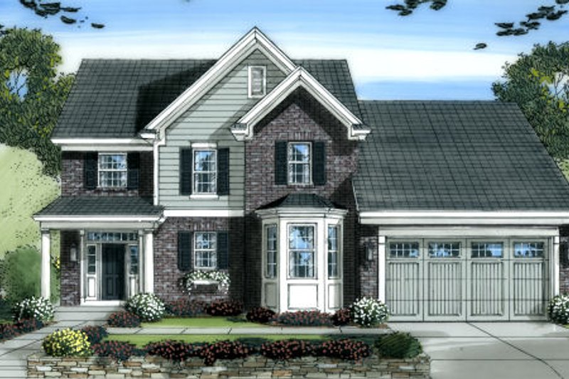 Country Exterior - Front Elevation Plan #46-452 - Houseplans.com