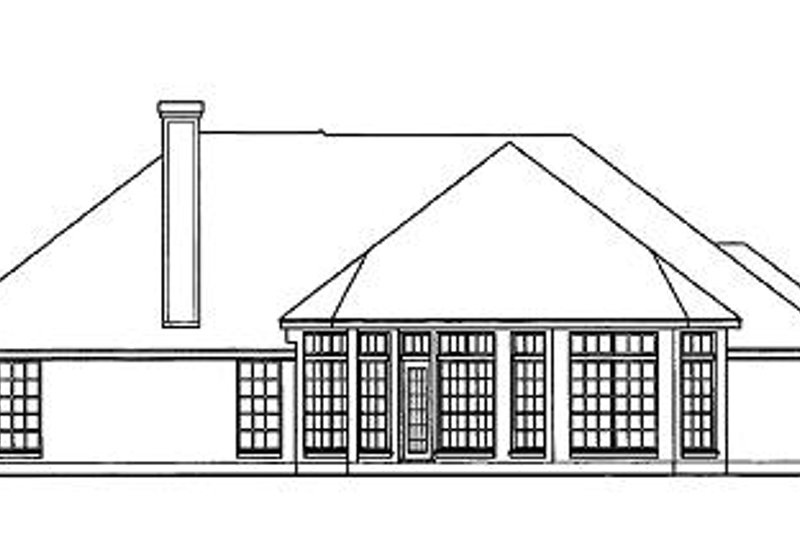 European Exterior - Rear Elevation Plan #40-178 - Houseplans.com