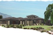 European Style House Plan - 5 Beds 4 Baths 5645 Sq/Ft Plan #24-230 Exterior - Front Elevation