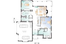 Main level floor plan - 3000 square foot Traditional home