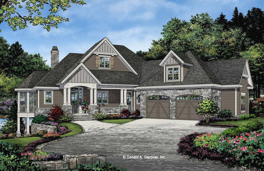 Craftsman Style House Plan - 3 Beds 2.5 Baths 2530 Sq/Ft ...