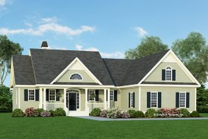 Ranch Exterior - Front Elevation Plan #929-938