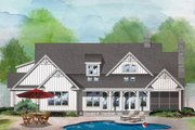 Farmhouse Style House Plan - 3 Beds 2 Baths 2115 Sq/Ft Plan #929-1077 Exterior - Rear Elevation
