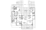 Modern Style House Plan - 4 Beds 3.5 Baths 2779 Sq/Ft Plan #451-21 Floor Plan - Main Floor Plan