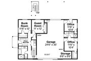 Country Style House Plan - 3 Beds 3.5 Baths 2666 Sq/Ft Plan #124-1052 Floor Plan - Main Floor Plan