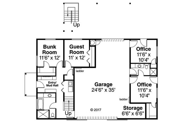 Country Floor Plan - Main Floor Plan Plan #124-1052