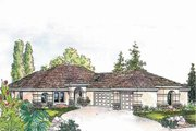 Mediterranean Style House Plan - 2 Beds 2.5 Baths 2619 Sq/Ft Plan #124-545 Exterior - Other Elevation