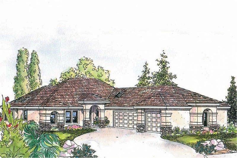 House Plan Design - Mediterranean Exterior - Other Elevation Plan #124-545